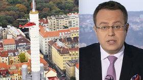 Václav Moravec musel evakuovat studio během vysílání svých Otázek.