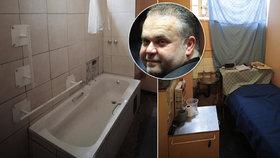 Cela a koupelna Radovana Krejčíře