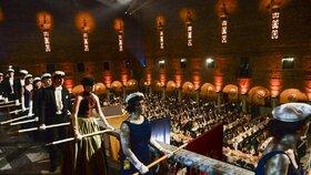 Na předávání Nobelových cen bylo pozváno na 1600 hostů.