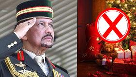 Brunejský sultán zakázal slavení Vánoc.