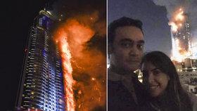 Prvními idioty 2016 se stal pár, který se společně vyfotil před hořícím hotelem v Dubaji.