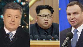 Novoroční projevy hlav států: Ke svému lidu promluvili Porošenko, Kim Čong-un i Polák Duda.