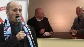 """Lídři Bloku proti islámu Martin Konvička a Petr Hampl při svém novoročním """"poselství"""""""