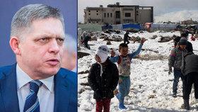 """Slovenský premiér Fico opět """"perlí"""": Před migranty nás prý chrání jen počasí."""
