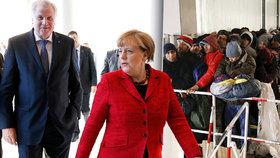 Bavorský premiér Horst Seehofer (vlevo spolu s kancléřkou Angelou Merkelovou) upozorňuje, že je třeba výrazně omezit příliv uprchlíků do Německa.