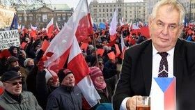 V Polsku vytáhli proti vládě červené karty. Prezident Zeman se však polského kabinetu zastal