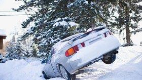 I takto může skončit jízda v zimě.(ilustrační foto)