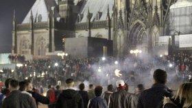 Silvestrovské nepokoje v centru Kolína