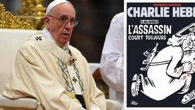 Titulní strana časopisu Charlie Hebdo Vatikán šokovala.