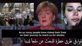 """Zatímco Angela Merkelová vítala v novoročním projevu uprchlíky s arabskými titulky, muži """"arabského a severoafrického vzezření"""" zaútočili na Němky."""