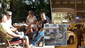 Čtveřice Čechů měla velké štěstí. Kdyby se do hotelu vrátili o deset vteřin dříve, mohli se stát součástí teroristického útoku.