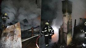 Při požáru chaty v rekreační oblasti Stvolínky na Českolipsku zemřel člověk.