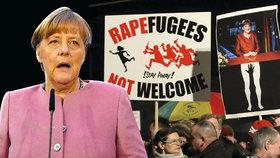 Angela Merkelová čelí doma kritice kvůli uprchlické krizi.