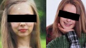 Pohřešovaná Lucie H. (vlevo) a Kateřina K. (vpravo) z Karlovarska byly ve středu v pořádku nalezeny ve Zlíně.