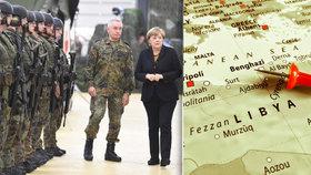 """Němečtí vojáci v Libyi? Dle opozice je to """"špinavý obchod""""."""