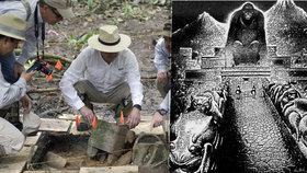 """Archeologové našli v Hondurasu """"město opičího boha""""."""
