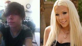 Z šikanovaného chlapce se stala sebevědomá blondýna.