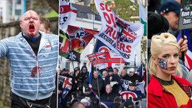 Sobotní demonstrace v anglickém Doveru se proměnila v krvavá jatka poté, co se tam střetly dvě protichůdné skupiny.