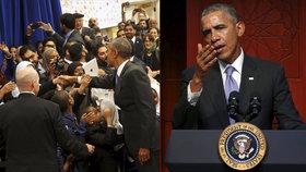 Barack Obama zavítal jako prezident USA poprvé do mešity.