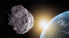 Asteroid poblíž Země (ilustrační foto)