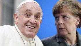 Papež svými slovy naštval Angelu Merkelovou.