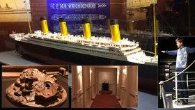 Výstava předmětů z Titanicu probíhá v Letňanech.