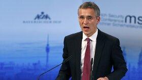Šéf NATO Stoltenberg na Mnichovské bezpečnostní konferenci