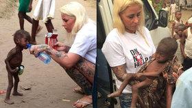 Podvyživeného chlapce zachránila humanitární pracovnice.