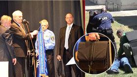 Co nosí Zemanova ochranka v černé aktovce? Multifunkční ochranný štít