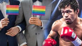 Jsou horší než zvířata, řekl Pacquiao: Slavný boxer se teď gayům omluvil.