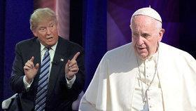 Trump se pohádal s papežem.