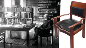 Chcete si užít pohodlí jako Tomáš Garrigue Masaryk? Máte jedinečnou šanci. Dražit se bude křeslo, které přímo pro prezidenta navrhl jeho dvorní architekt Josip Plečnik.