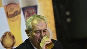 Prezident Miloš Zeman – velký milovník piva