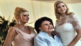 Svatba vnučky Ivanky v roce 2009