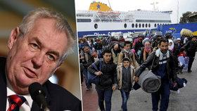 Miloš Zeman okomentoval problém vyjednávání s Tureckem o uprchlících.