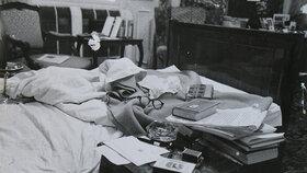 Masarykova ložnice v bytě v Černínském paláci