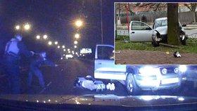 Nebezpečná honička i bouračka: Policisté šetří dva případy zfetovaných řidičů.