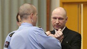Breivik se vrátil před soud: Uvedl se nacistickým pozdravem.