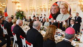 Slavnostní oběd pro polského prezidenta na Hradě: Pozvali i Václava Klause či Dagmar Havlovou