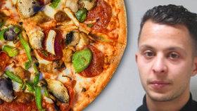 Salah Abdeslam doplatil na svou chuť po evropské pochoutce pizze.