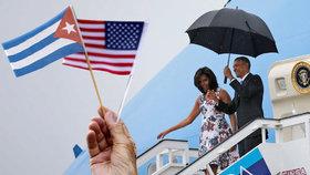 Poprvé po 88 letech:  Americký prezident přiletěl na Kubu.