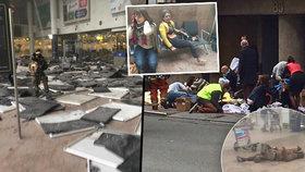 Teroristické útoky v Bruselu si vyžádaly několik obětí na letišti i v metru.