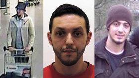 Nejhledanější muži světa, zleva: Maskovaný terorista, Mohamed Abrini a Najim Laachraoui