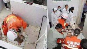 Čerstvě narozené miminko přežilo v odpadní trubce na nemocničním záchodě, kam ho spláchla krutá matka.