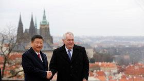 Prezident Zeman a čísnký prezident, který navštívil Česko nedávno.