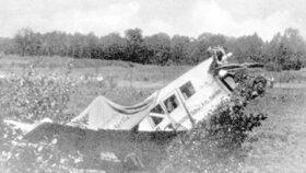 Letadlo, v němž Tomáš Baťa našel smrt.
