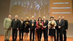Vedení ČSSD zvolené na sjezdu 2015