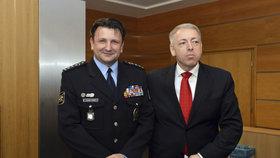 Policejní prezident Tomáš Tuhý a ministr vnitra Milan Chovanec