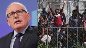 Místopředseda Evropské komise Timmermans představil opatření k uprchlické krizi, které komise navrhuje.