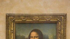 Mona Lisa v pařížském Louvru